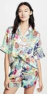 Karen Mabon Postcards Short Sleeve Pajama Set