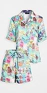Karen Mabon Wish You Were Here Short Sleeve Pajama Set