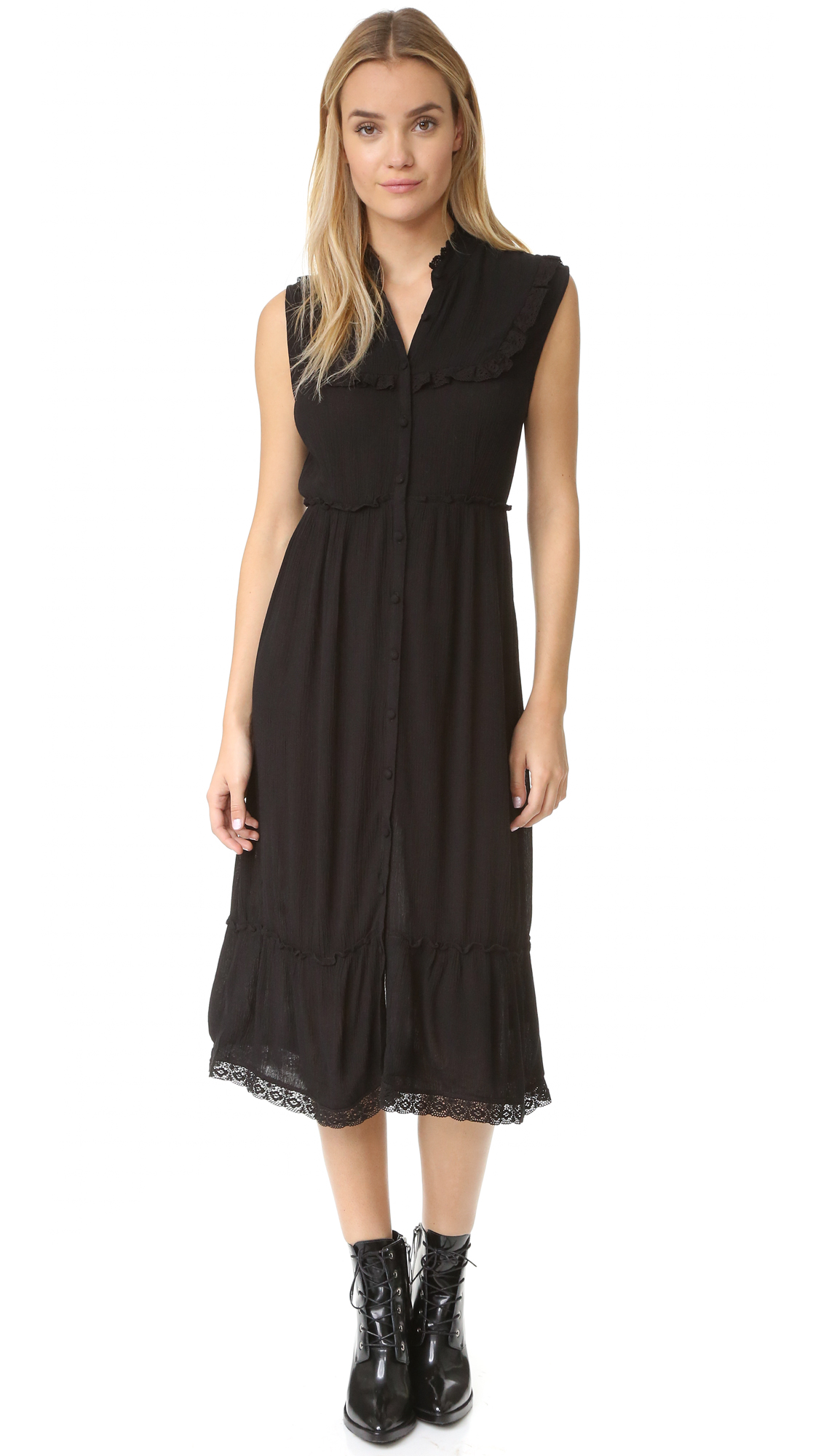 Knot Sisters Outlaw Dress - Black