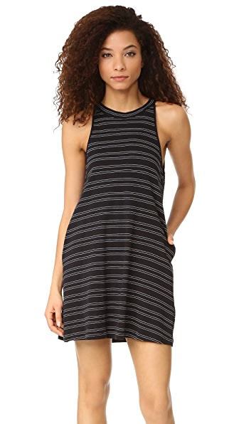 Knot Sisters Mesa Dress - Black with Cream Stripe