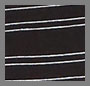 Black with Cream Stripe
