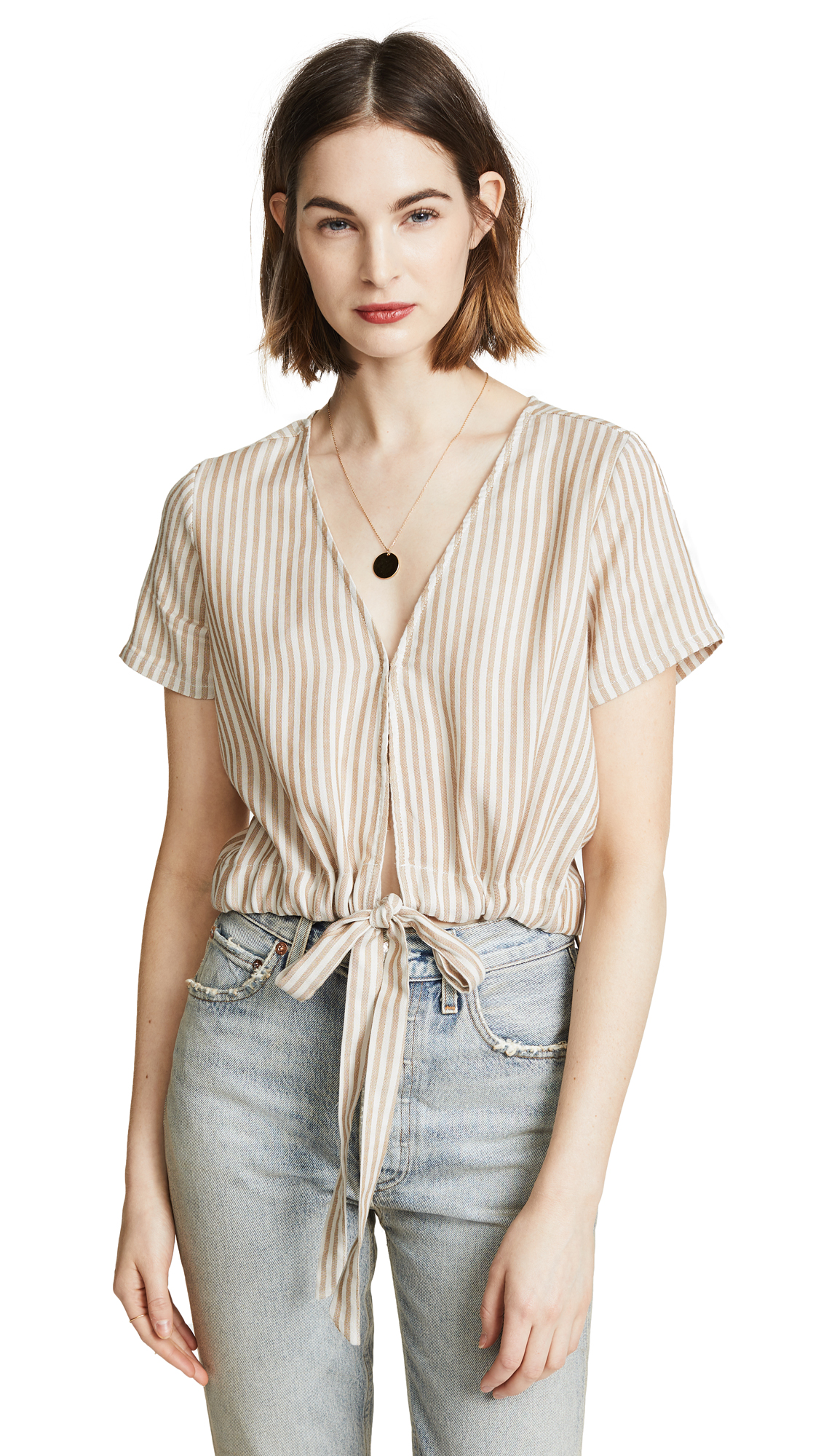 Knot Sisters Barcelona Top In Straw