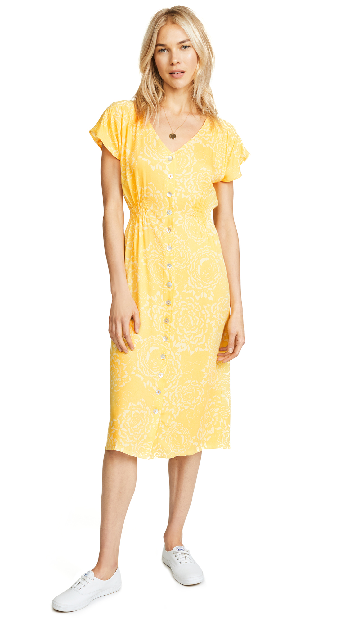 Knot Sisters Lido Dress In Sunshine
