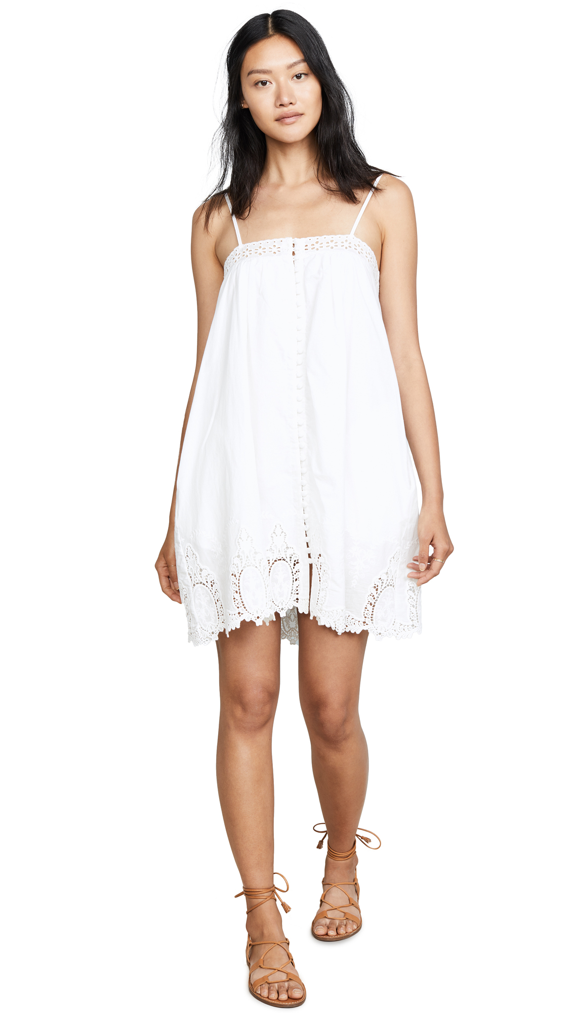 KNOT SISTERS Hampton Dress in White