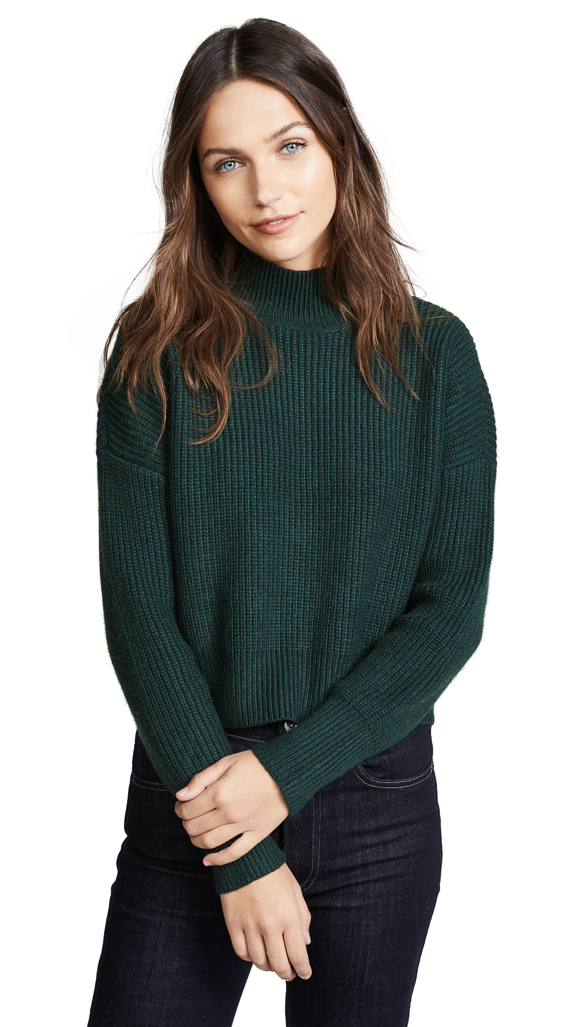 KNOT SISTERS Libby Sweater in Evergreen