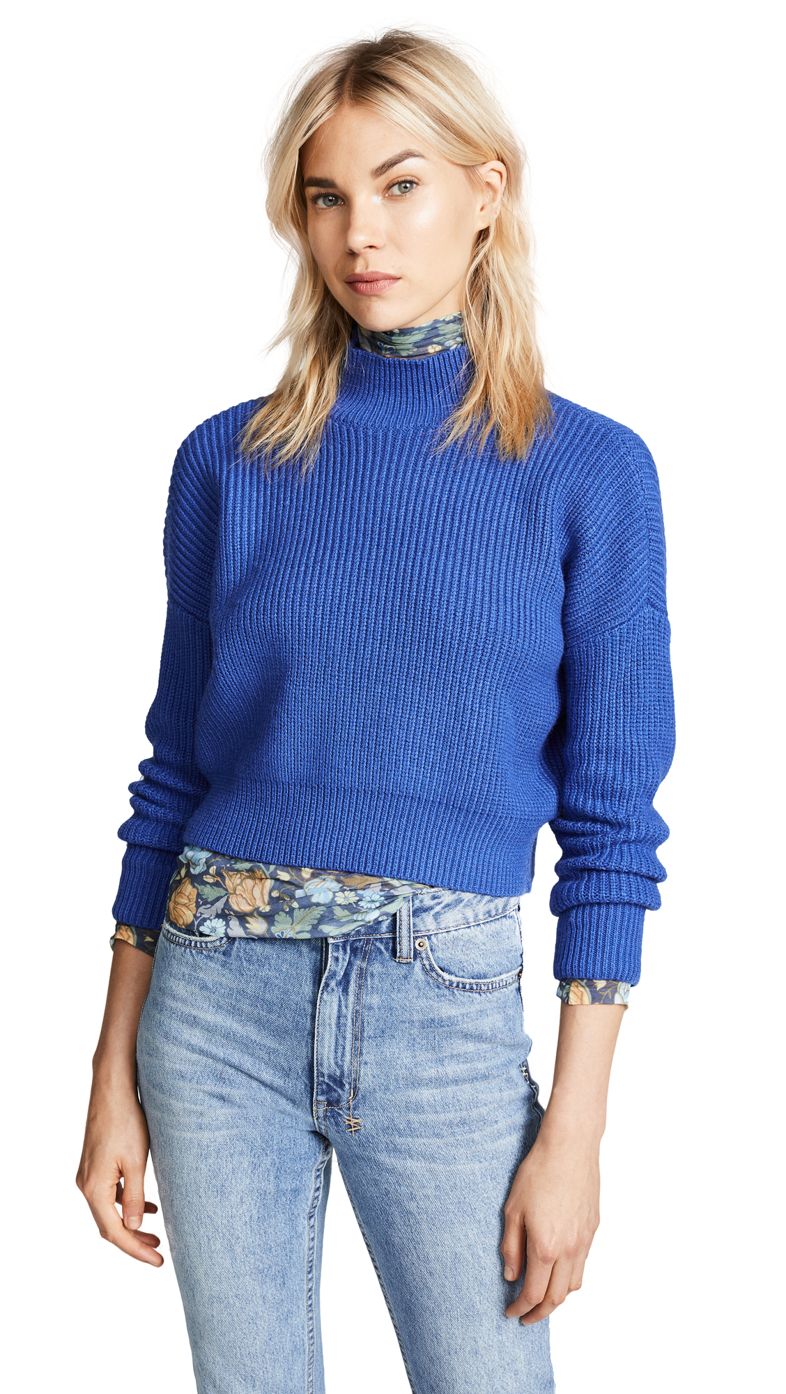 2e548a0324f1f9 Knot Sisters Libby Sweater In Royal