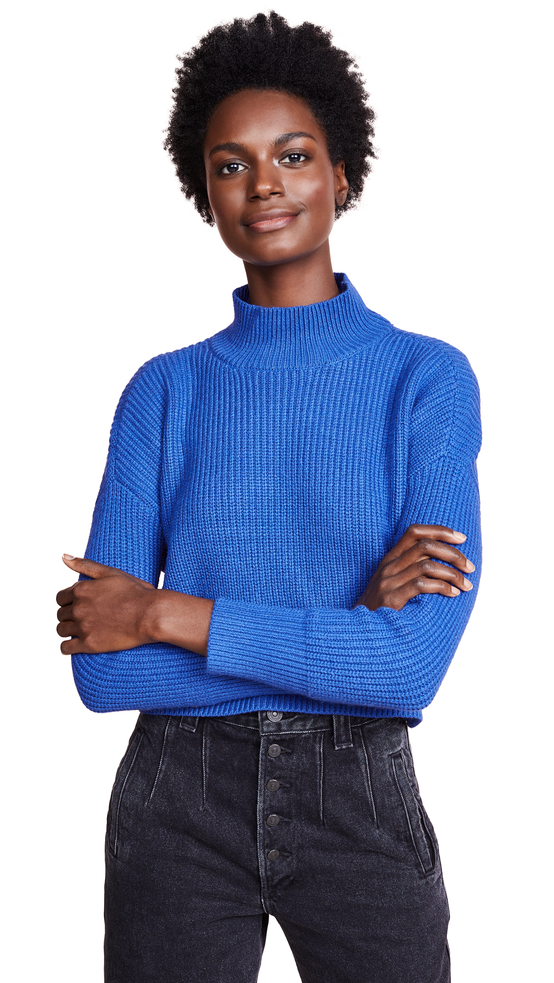 KNOT SISTERS Libby Sweater in Royal Blue