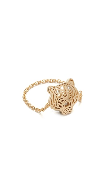KENZO Mini Tiger Ring - Gold