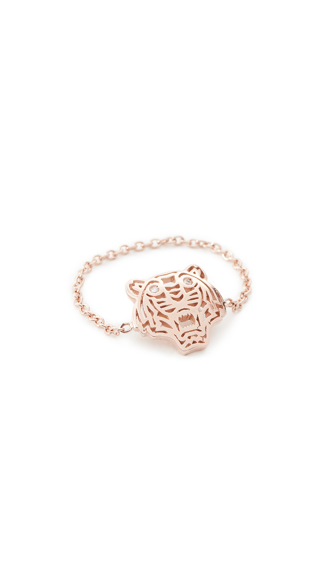 KENZO Mini Tiger Ring - Pink Gold