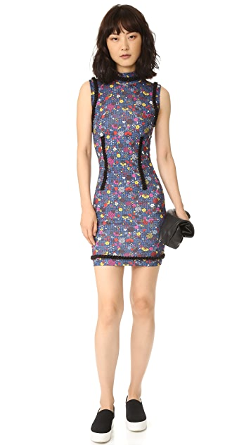 KENZO Tanami Flower Stretch Jersey Dress