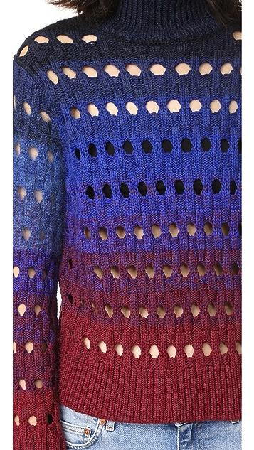 KENZO Tie Dye Turtleneck Sweater