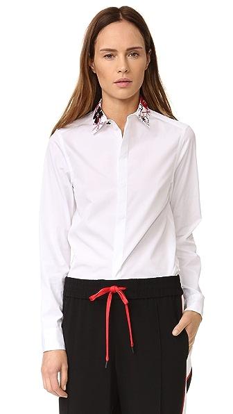 KENZO Рубашка на пуговицах с вышивкой