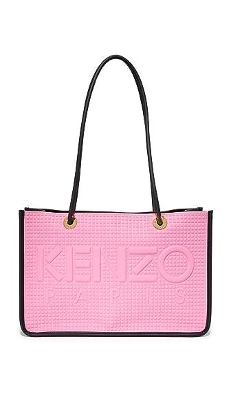 KENZO Объемная сумка-шоппер с короткими ручками из неопрена