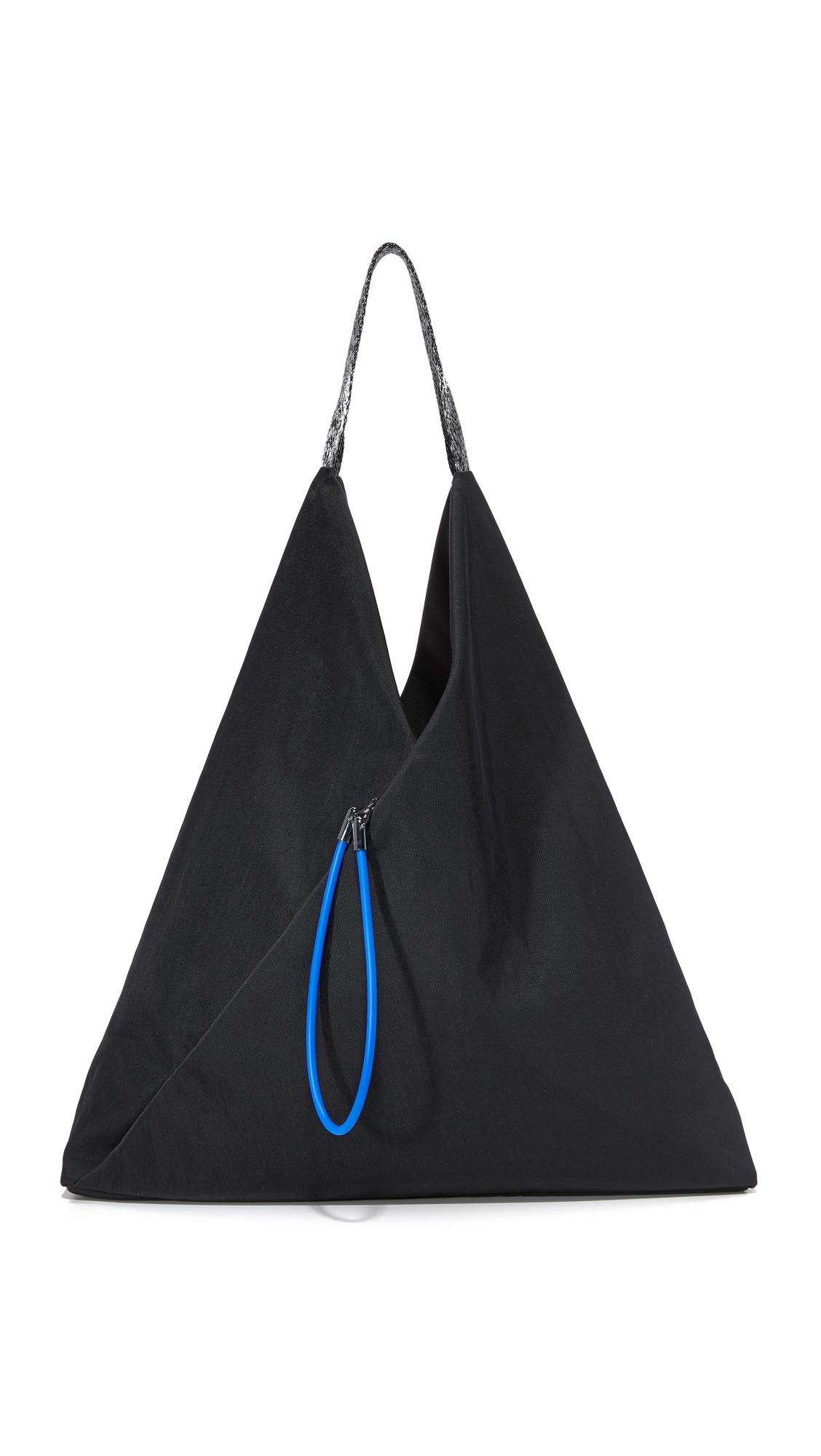kenzo female 188971 kenzo nylon hobo bag black