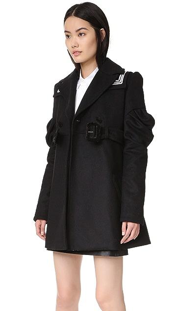 KENZO Ruffle Sleeve Trench Coat