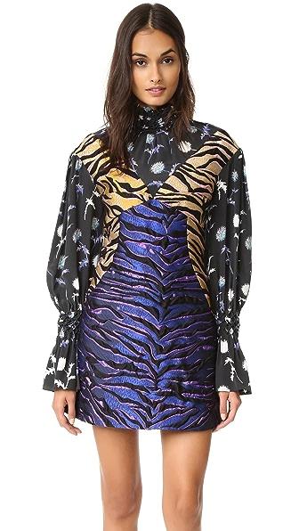 KENZO Tiger Striped Jacquard Dress - Midnight Blue
