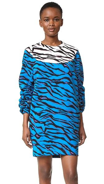 KENZO Платье-толстовка в тигровую полоску