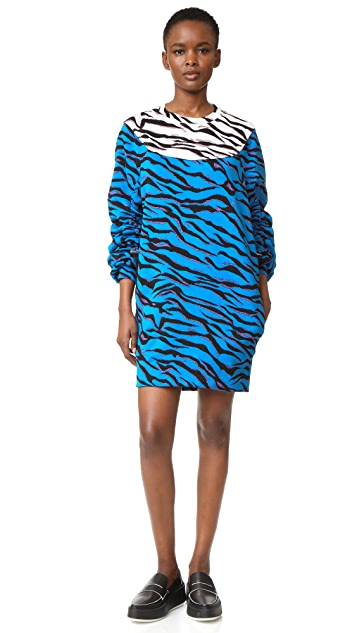 KENZO Tiger Stripes Sweatshirt Dress