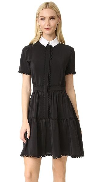 KENZO Silk Shirtdress - Black