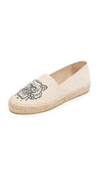 KENZO Tiger Canvas Espadrilles - Putty