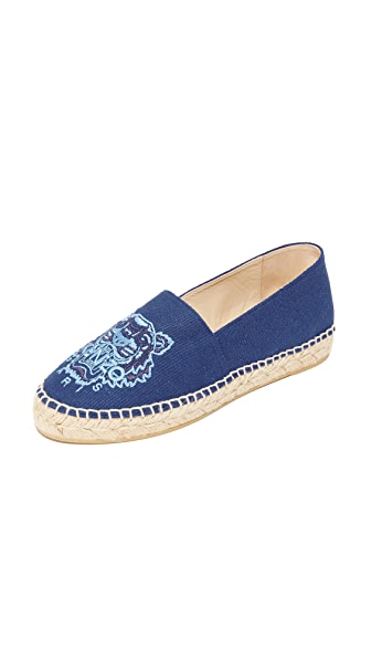 KENZO Tiger Canvas Espadrilles - French Blue