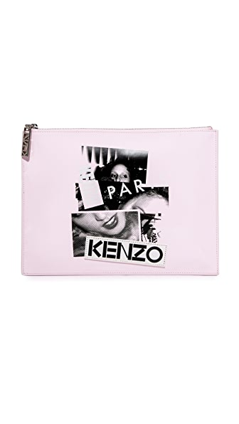 KENZO Pouch In Light Pink