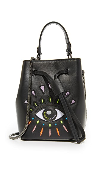 KENZO Mini Bucket Bag - Black