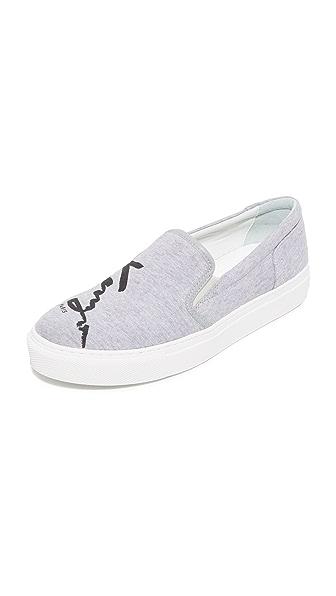 KENZO S Skate Slip On Sneakers - Pearl Grey