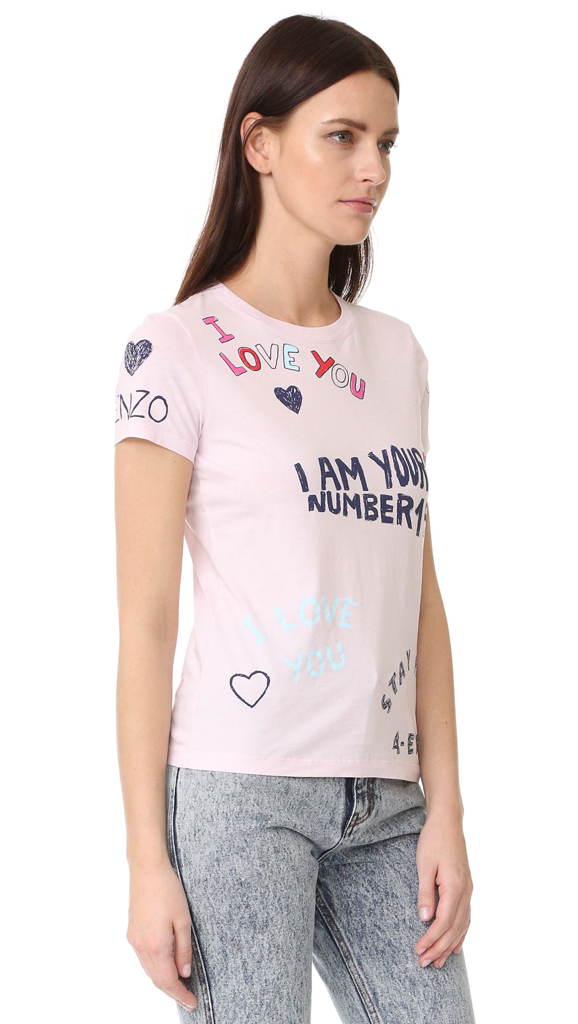 3281d4542427 KENZO I Am Your Number 1 Fan Tee   SHOPBOP
