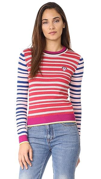 KENZO Fancy Collar Comfy Sweater - Deep Fuschia