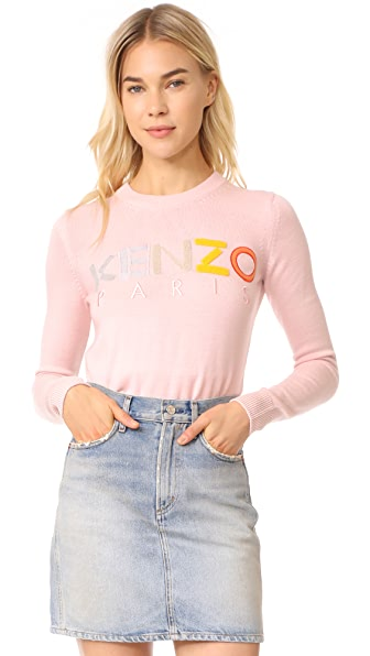 KENZO Crew Neck Classic Sweater - Faded Pink