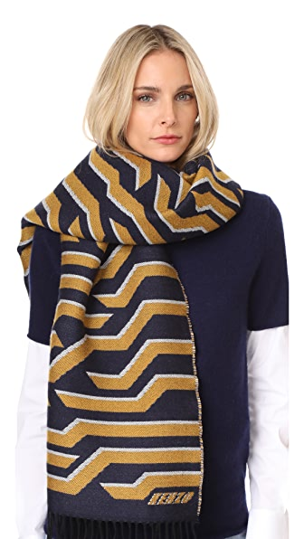 KENZO Geotiger Midnight Stole Scarf - Midnight Blue