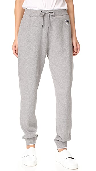 KENZO Tiger Crest Classic Jogger Pants - Dove Grey