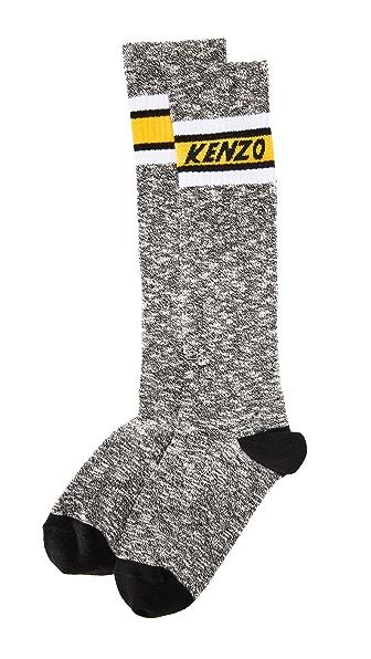 KENZO High Stripy Socks In Black