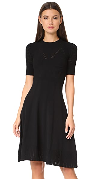 KENZO Knee Length Fit & Flare Dress - Black