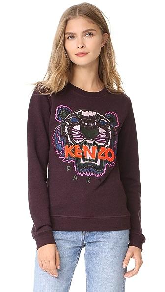 KENZO Tiger Classic Sweatshirt In Prune