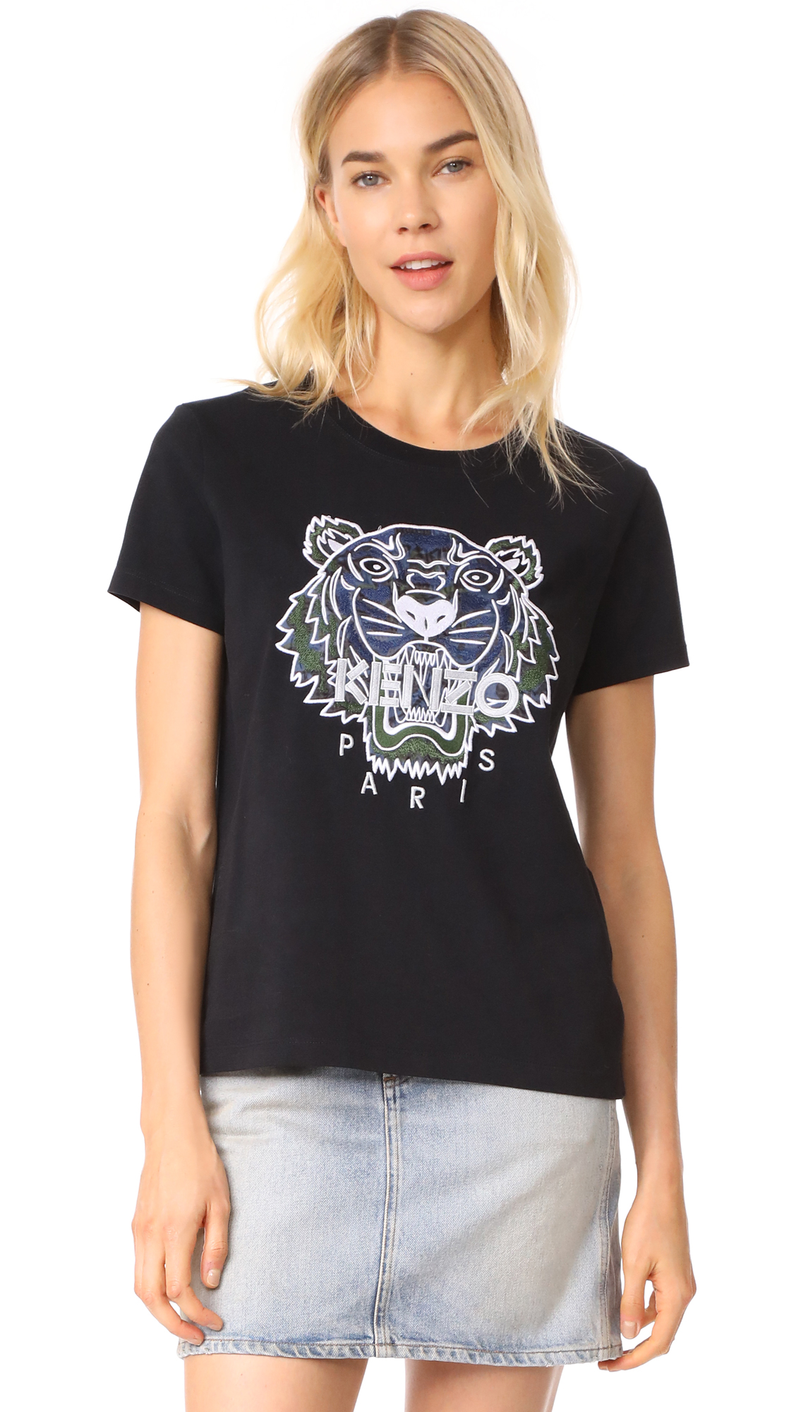 KENZO Tiger Straight T-Shirt - Black