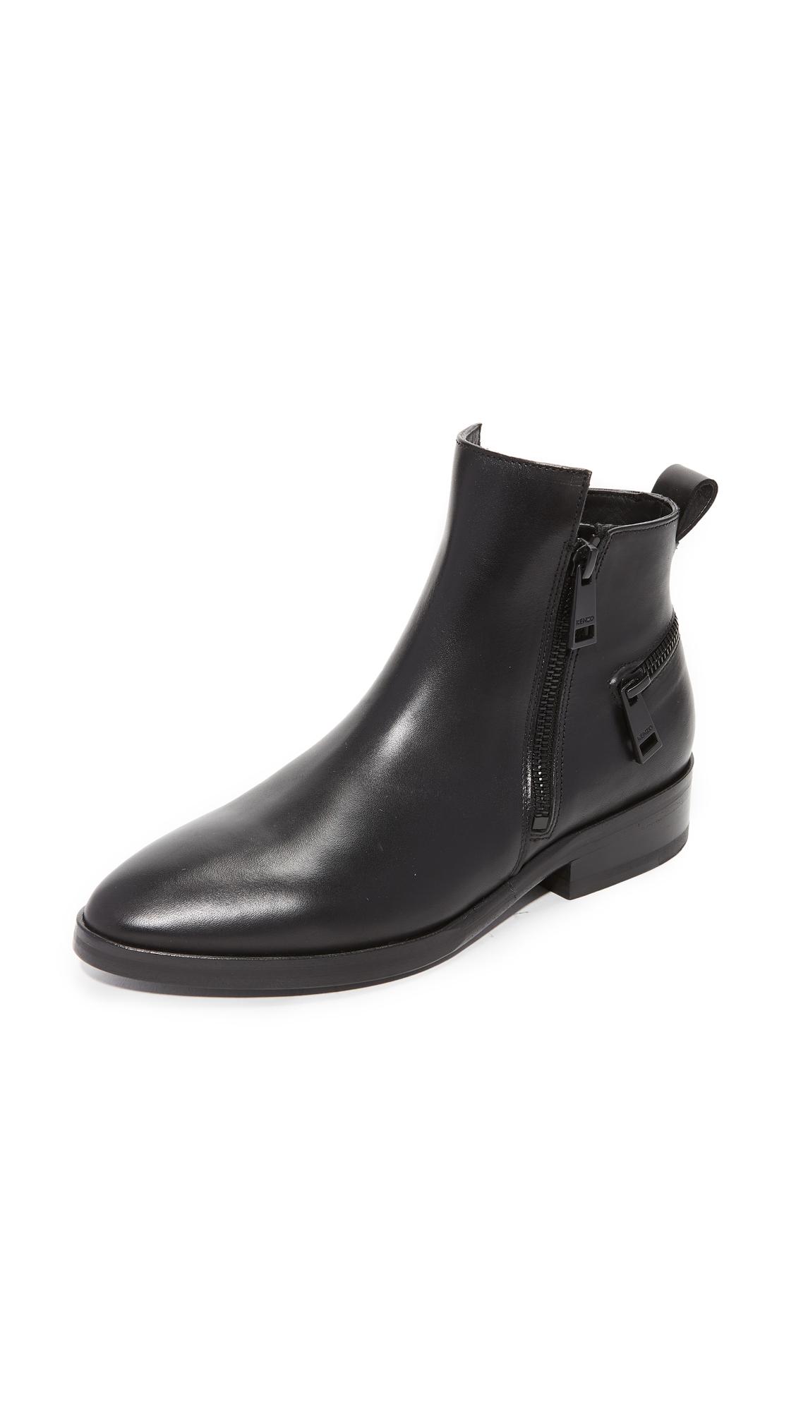 KENZO Totem Flat Booties - Black