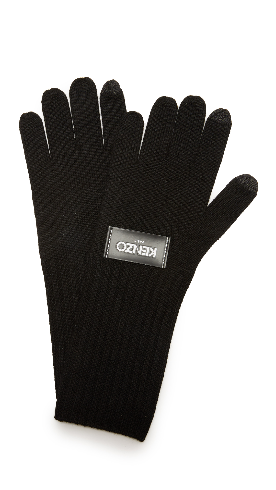 KENZO Texting Gloves - Black