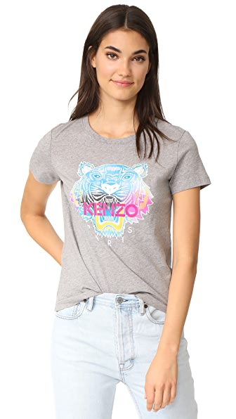 KENZO Rainbow Tiger T-Shirt - Light Grey