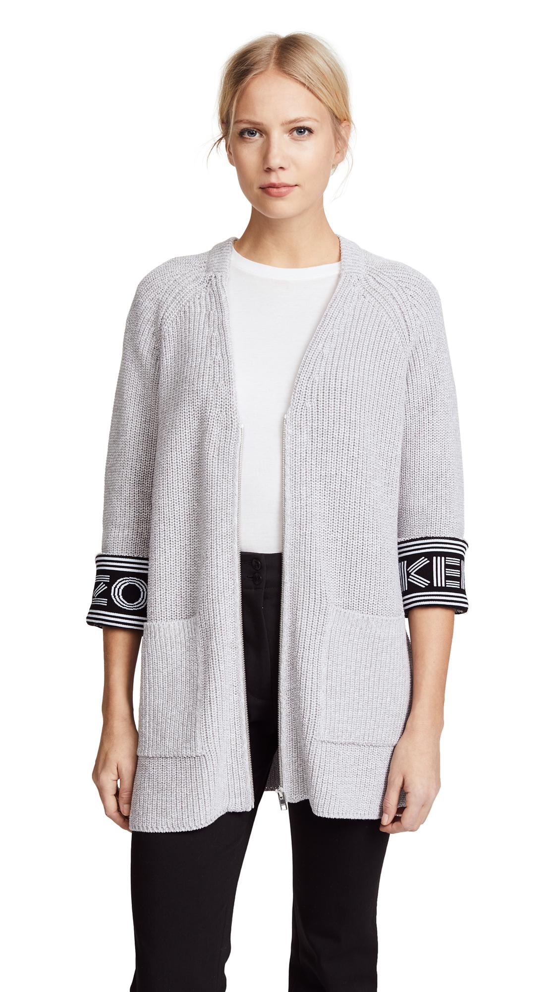 KENZO Kenzo Sport Cardigan - Pale Grey
