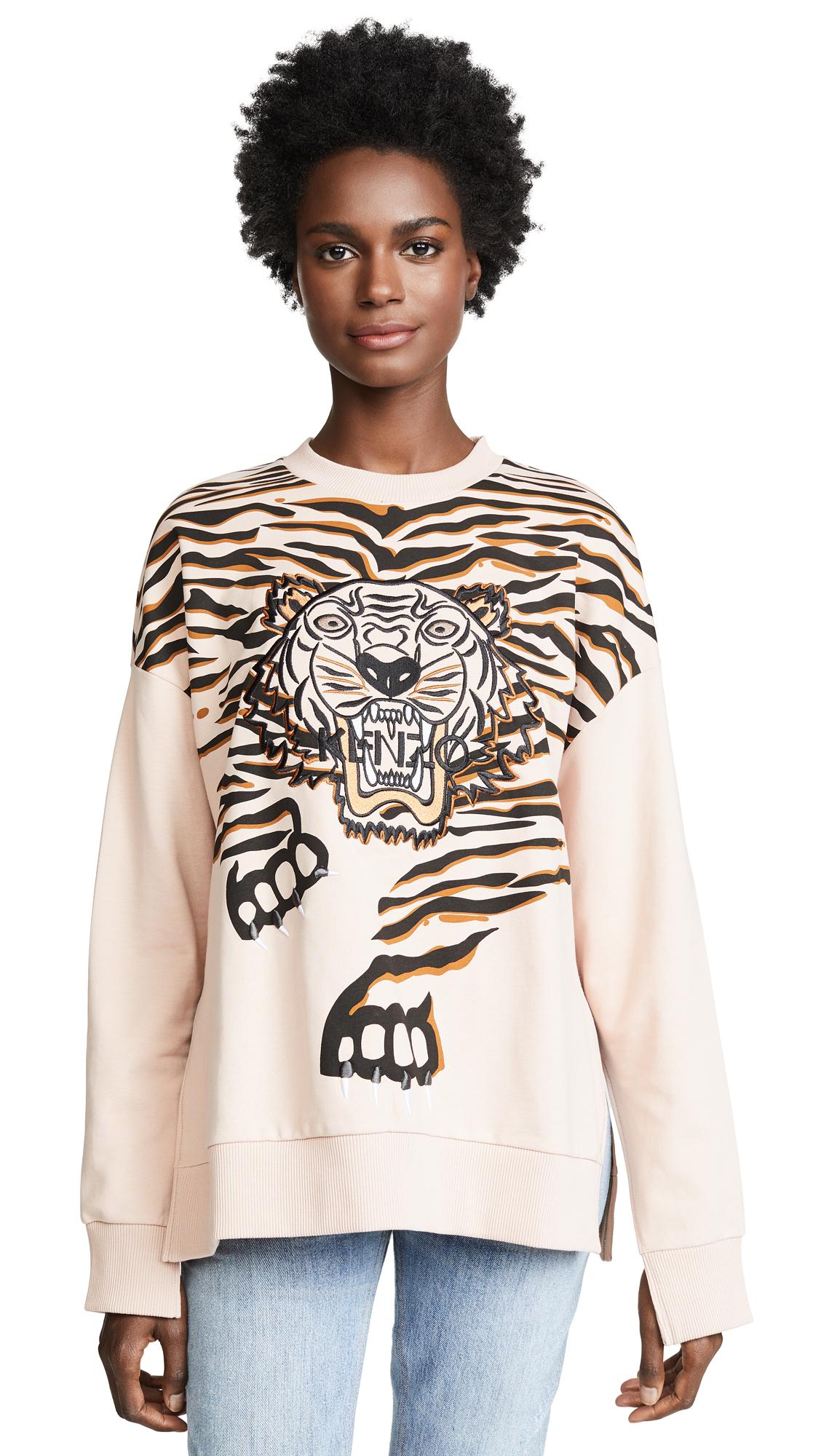 KENZO Claw Tiger Sweatshirt In Skin