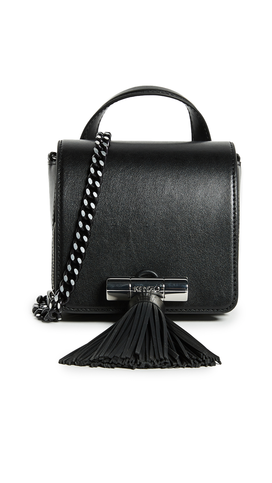 KENZO Sailor Chain Mini Top Handle Bag - Black