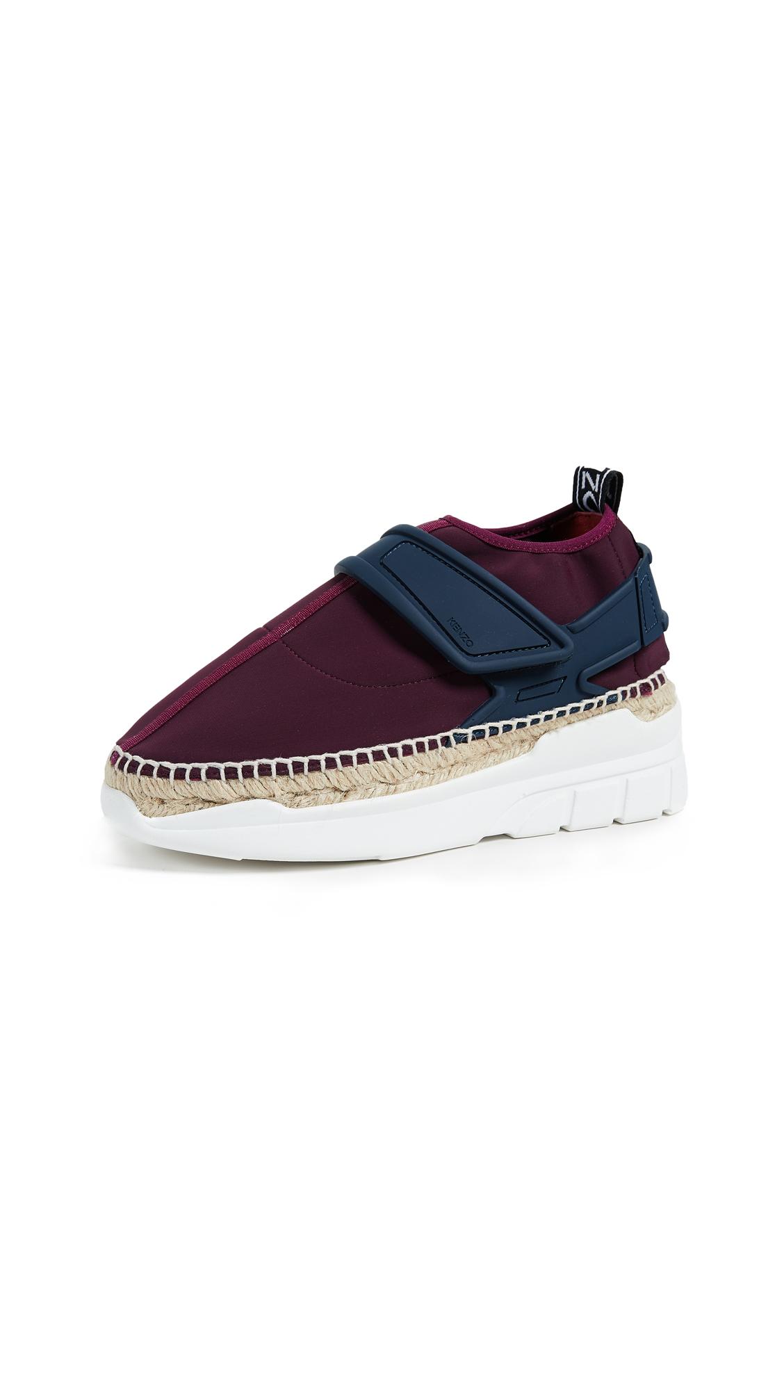 KENZO K Lastic Espadrille Sneakers - Bordeaux
