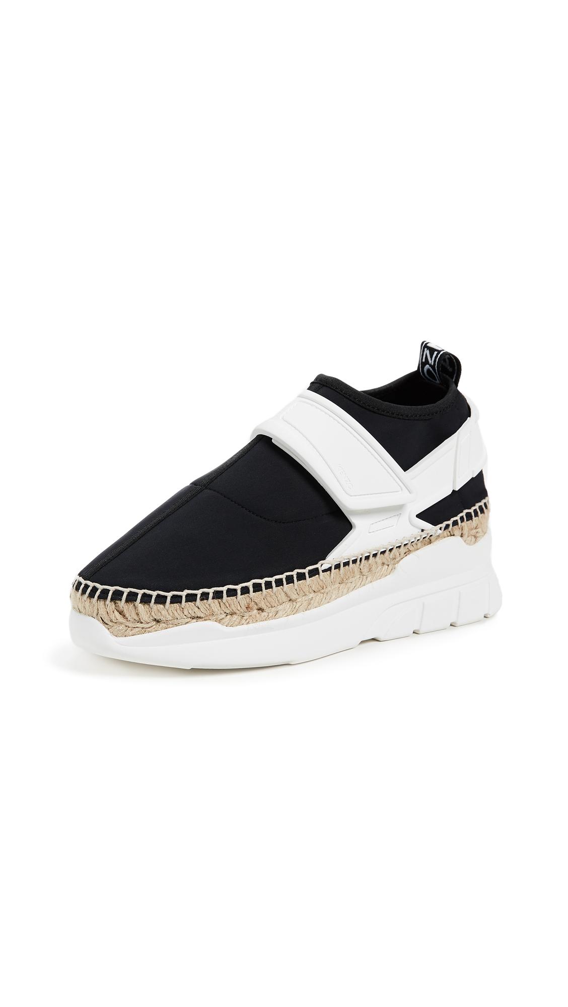 KENZO K Lastic Espadrille Sneakers - Black