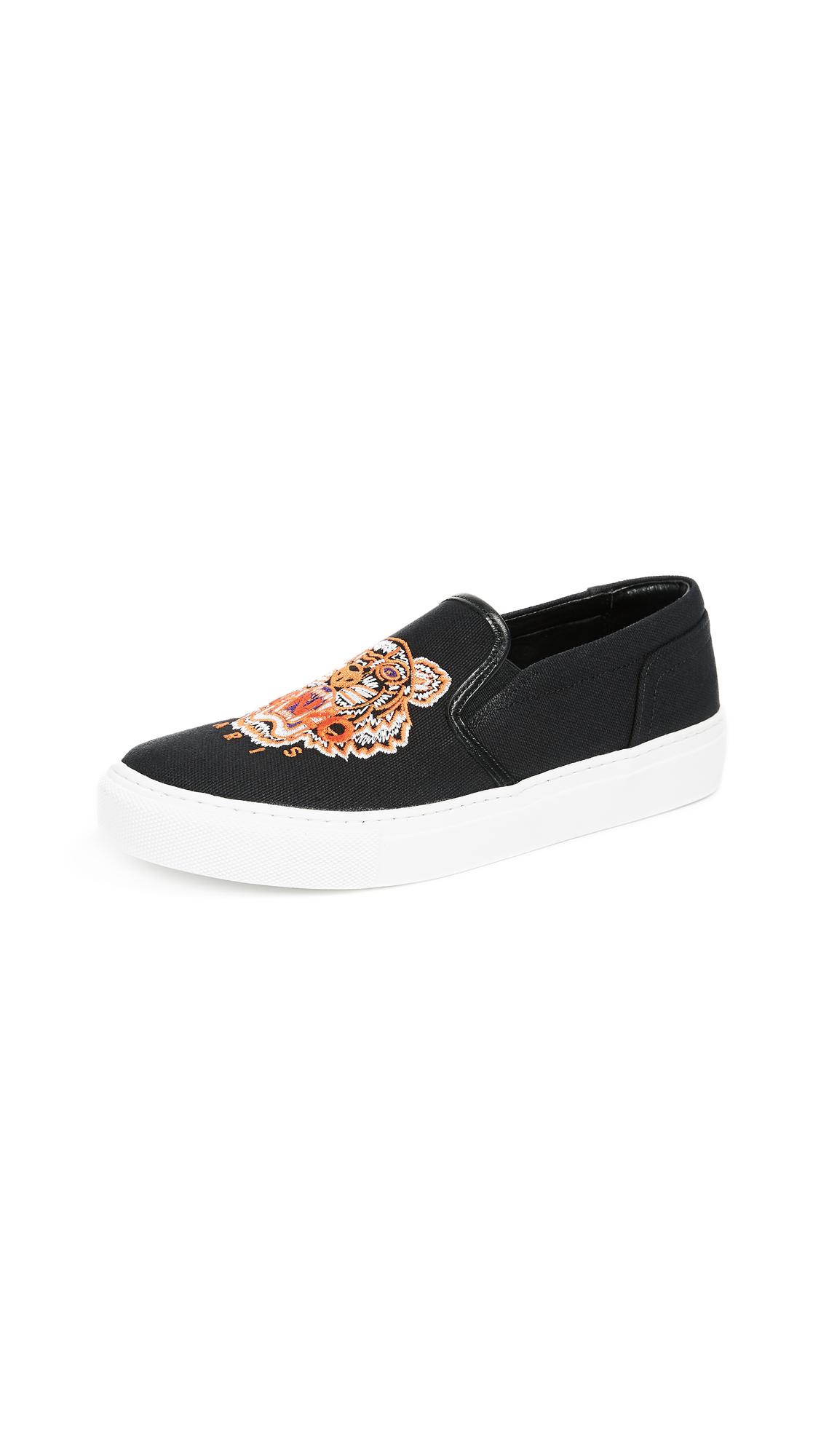 KENZO K-Skate Tiger Sneakers - Black