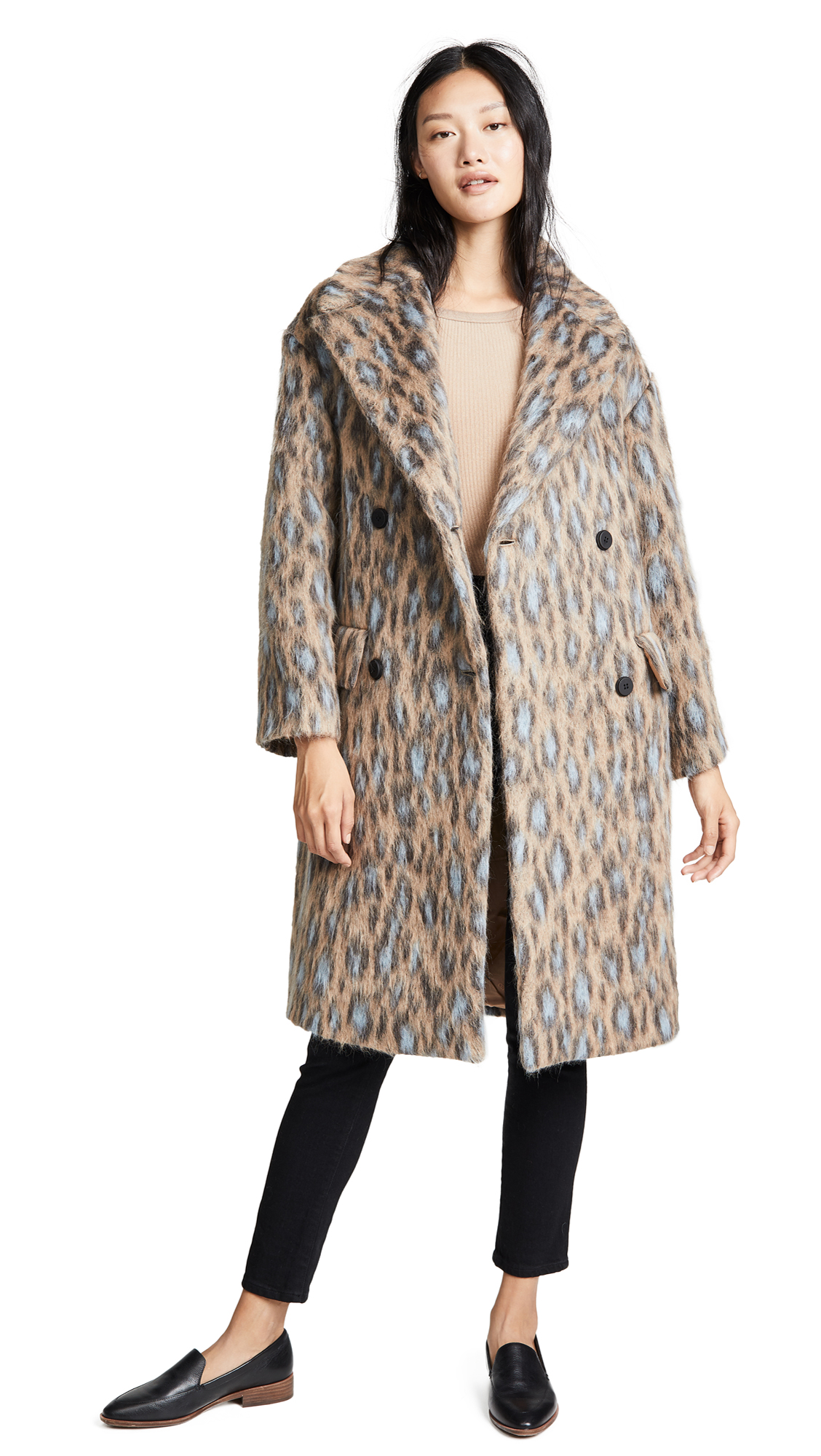 KENZO Straight Coat In Sand