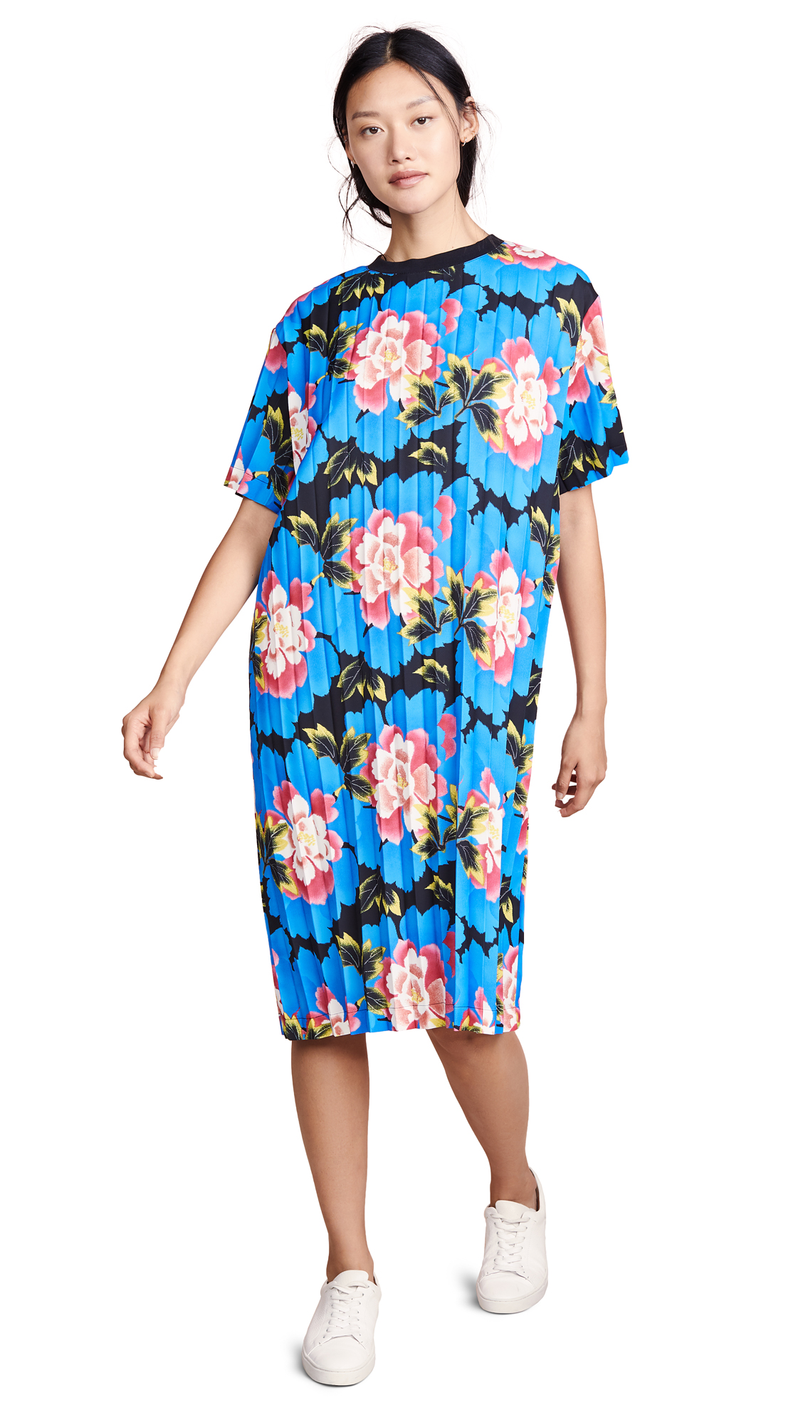 Photo of KENZO Long Pleated Tee Dress online sales