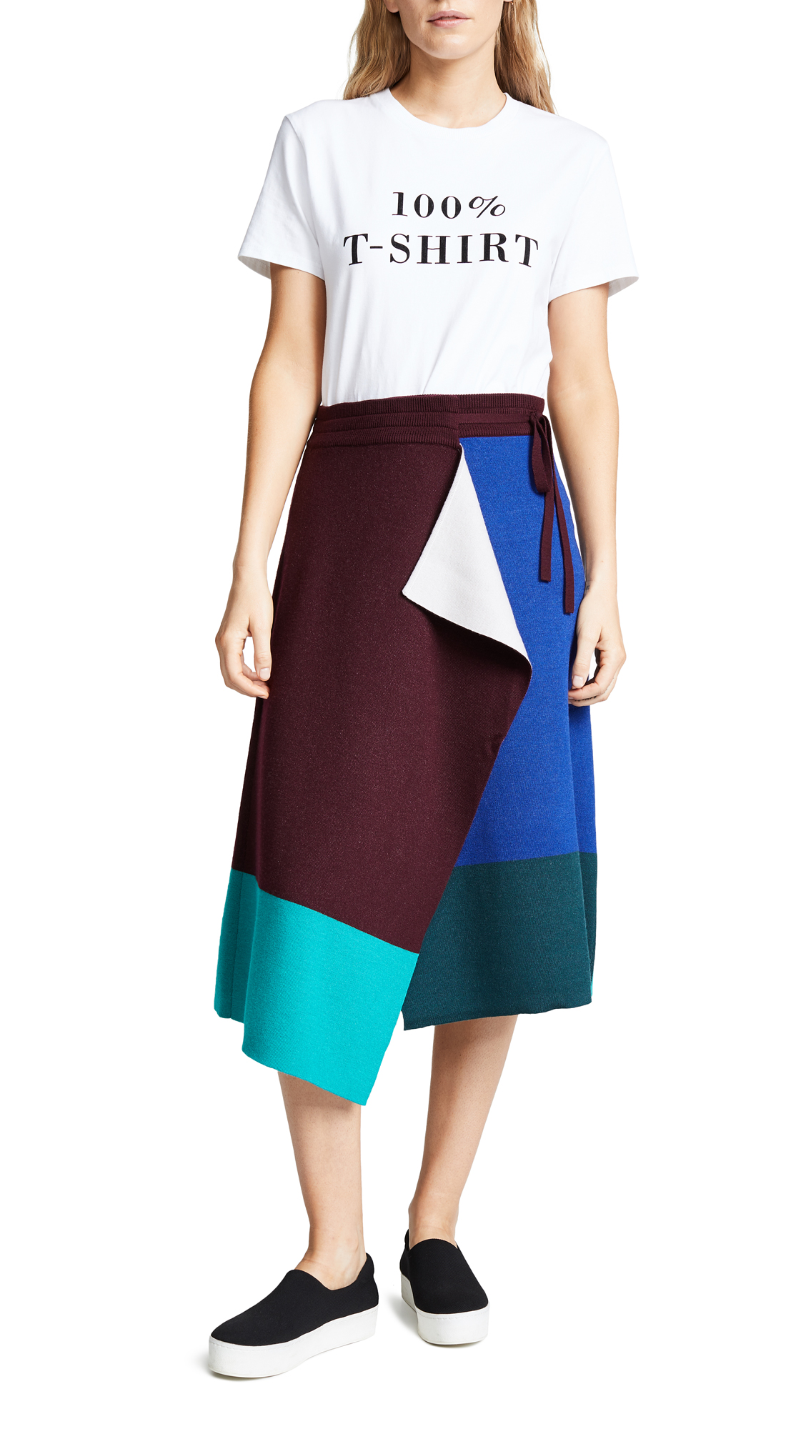 KENZO Mid Length Flare Skirt In French Blue