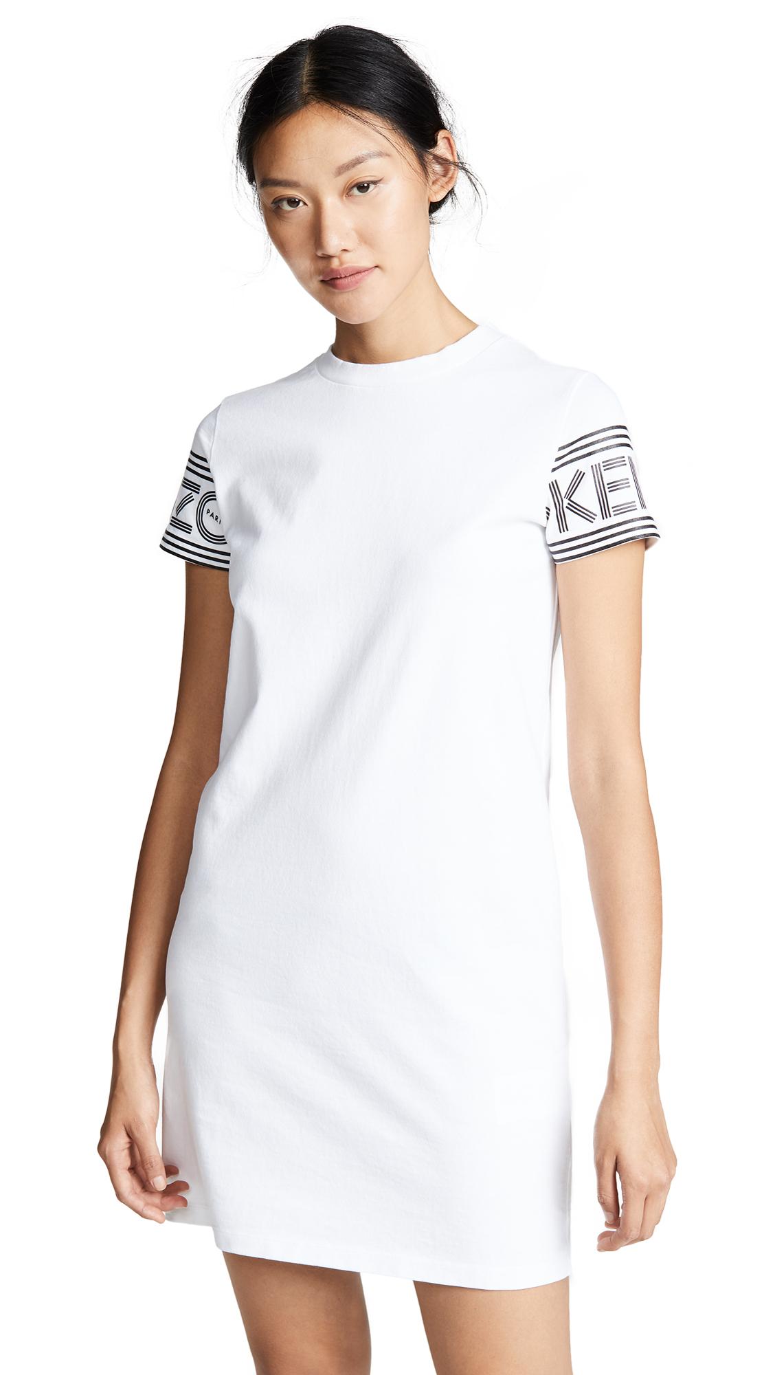 KENZO Kenzo Sport T-Shirt Dress In White